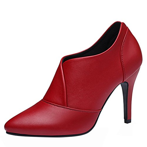 fq-real-women-fashion-casual-pu-leather-pointed-toe-ankle-high-thin-heel-party-pump-shoes35-uk-red