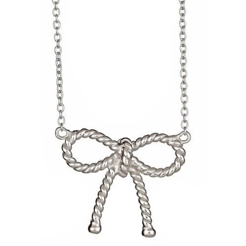 Designer Inspired Twist Bow Necklace
