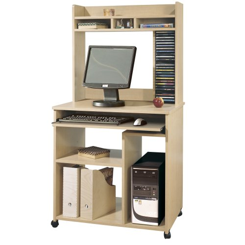 Buy Low Price Comfortable South Shore Furniture Morgan Collection Computer Cart, Natural Maple (B0028RY17Q)
