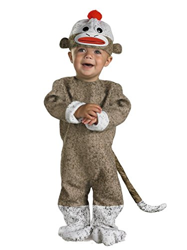 Disguise Infant & Toddler Boys & Girls Sock Monkey Costume 12-18 Months