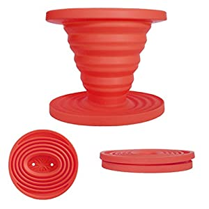 Kuissential SlickDrip - Collapsible Silicone Coffee Dripper, Filter Cone