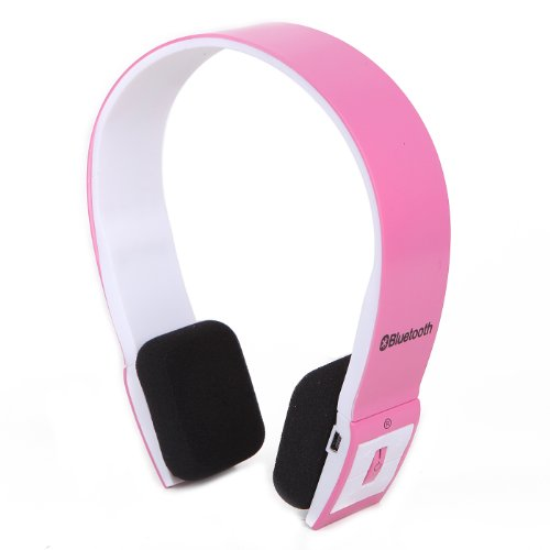 Hde Slim Wireless Bluetooth V3.0 Stereo Headphones W/ Compatible Usb 2.0 Bluetooth Dongle Adapter (Pink)
