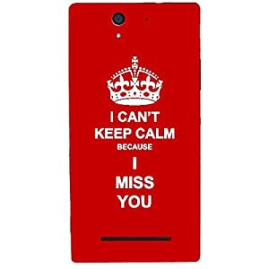 Skin4gadgets I CAN'T KEEP CALM BECAUSE I MISS YOU - Colour - Red Phone Skin for SONY XPERIA C3 DUAL (s55t)