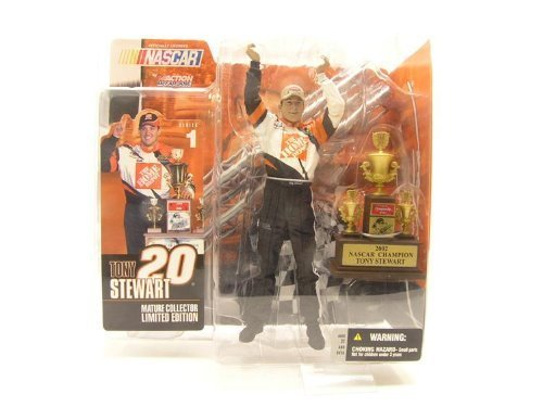Tony Stewart #20 Home Depot Mature Collectors Limited Edition 2002 NASCAR CUP CHAMPION McFarlane Series One Action Figure by NASCAR/ NHRA - 1