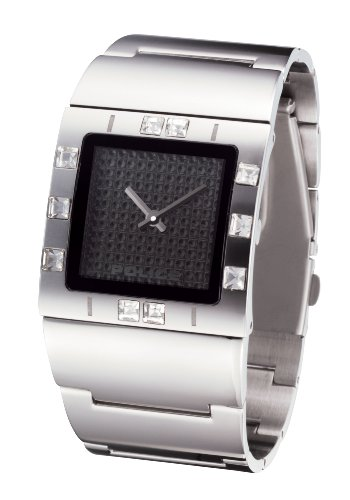 Police 'Sheen' Ladies Stainless Steel Bracelet Watch With Black Dial