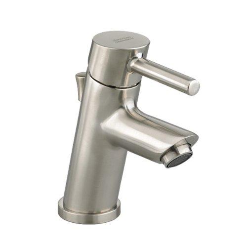 Luxury American Standard Serin Petite Monoblock Bathroom Sink Faucet with Metal Pop Up Drain