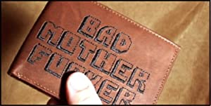 BMF Embroidered Leather Wallet