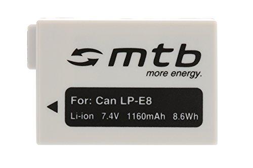 Batterie LP-E8 pour Canon EOS 550D, 600D, 650D, 700D / Rebel T2i, T3i, T4i, T5i