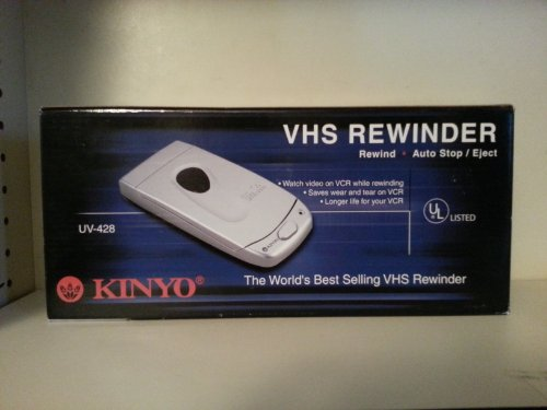 Best Buy! Kinyo 1Way VHS #UV-428 Rewinder