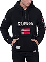 Geographical Norway Sudadera con Capucha Gymclass (Negro)