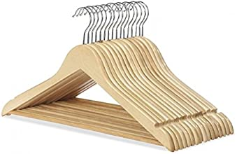 Whitmor 6026-715-16 Natural Wood Collection Suit Hangers, Set of 16