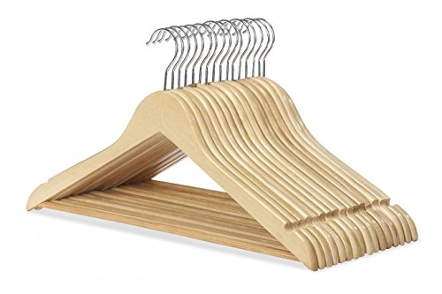 Whitmor Wood Suit Hangers, Set of 16, Natural (Wooden Clothes Hanger compare prices)