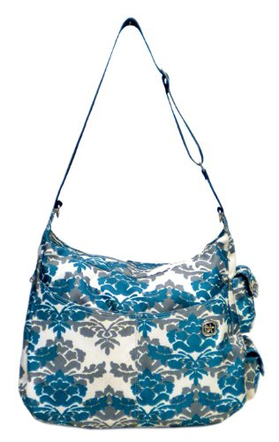 JJ Cole Zoey Diaper Bag, Teal Fleur (Discontinued by Manufacturer)