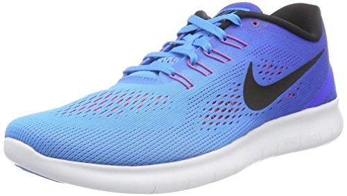 Men's Nike Free RN Running Shoe Blue Glow/Black/Racer Blue Size 9 M US