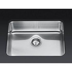 KOHLER K-3325-NA Undertone Extra-Large Squared Undercounter Kitchen Sink