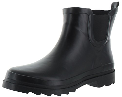 Moda Essentials Blast Women's Rubber Rain Booties Boots Black Size 11 (Rain Shoes For Women Size 11 compare prices)