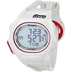 Asics Unisex CQAR0104 Race Regular White Oversized Display Running Watch