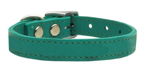 Mirage Pet Products Collar 83-25 14Jd Plain Leather Collars Jade 14