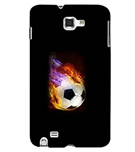 Printvisa Firing Football Pic Back Case Cover for Samsung Galaxy Note i9220::Samsung Galaxy Note 1 N7000