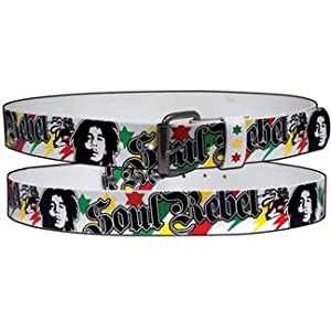 Bob Marley Soul Rebel Leather Belt