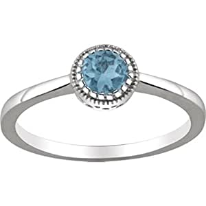 swiss blue topaz quot december quot birthstone ring in