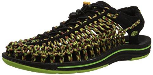 Keen scarpe da trekking UNEEK, Nero (BLACK/GREEN GLOW), 11.5