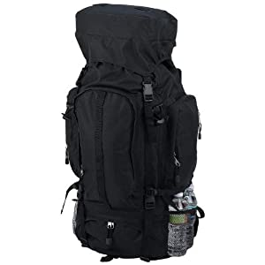 Black Water Repellent Mountaineer 's Backpack