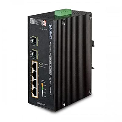 PLANET IGS-624HPT / Industrial 4-Port 10/100/1000T 802.3at PoE+ w/ 2-Port 100/1000X SFP Ethernet Switch