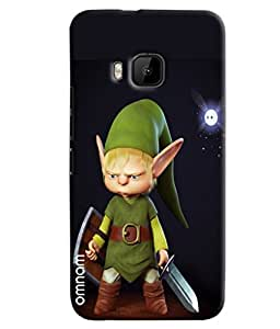 Omnam Cartoon Printed With Black Effect Printed Designer Back Cover Case For HTC One M9