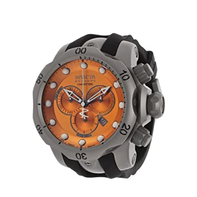 Invicta Men's 14169 Venom Analog Swiss-Quartz Black Watch