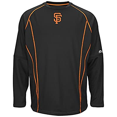 San Francisco Giants Majestic MLB Authentic On-Field Crew Pullover Sweatshirt