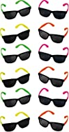 Rhode Island Novelty Neon 80s Style Party Sunglasses with