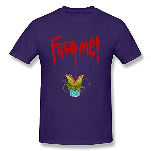 TBTJ Little Shop Of Horrors Feed Me T Shirts For Men Purple XX-Large