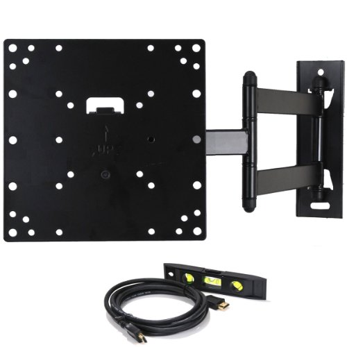 VideoSecu LCD LED TV Wall Mount Full Motion with Swivel Articulating Arm for 23-37 in, up to 42 in TV Monitor Flat Panel Screen With VESA 200 100, 20 in Extension and Post-installation Leveling System ML531B M84