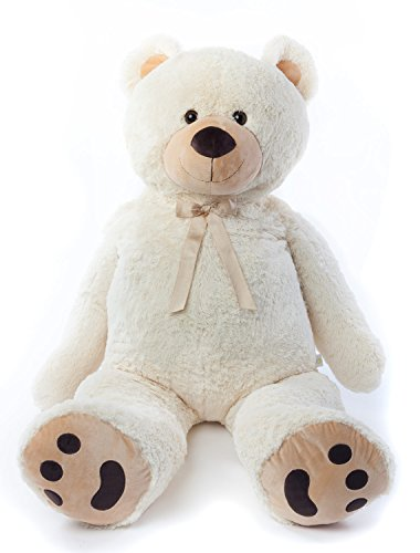 Joon-Jumbo-Teddy-Bear-5-Feet-Tall-Cream