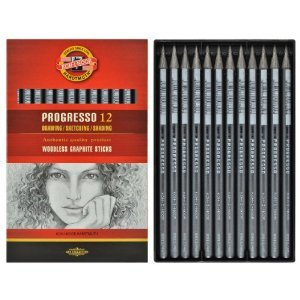 progresso-woodless-graphite-pencils-8911-pack-of-12-grade-4b
