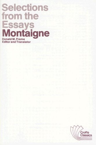 how to write a strong personal montaigne essays sparknotes a child once able to feed himself would know how to go in search montaigne
