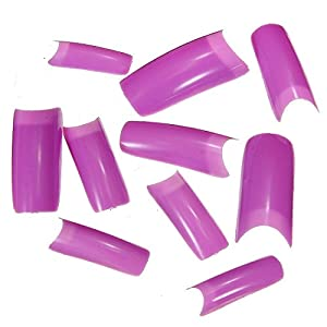 500 Capsule Tips Faux Ongles French Nail Art Violet Raisin