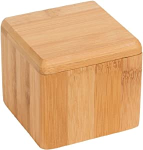 Bamboo salt box kitchen accessory - Hold your salt - By Trademark Innovations