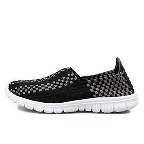 Men & Women Easy Wear Dry Fast Light Weight Breathable Cool Comfortable Mesh Outdoor running Walking shoes Black US10/EU44/28.0CM (Cooking Shoes For Men compare prices)