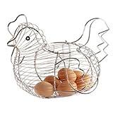 2x Kitchen Craft Chrome Plated Wire Large Chicken Basket 30cm x 25cm