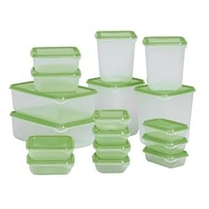 Ikea Pruta Contenitori Con Coperchio In Plastica 17 Pezzi Casa E Cucina