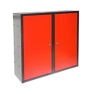 ADB Werkstatt Wandschrank / Hängeschrank mit Lochwand 2 trg. Anthrazit / Rot  BaumarktKundenberichte und weitere Informationen
