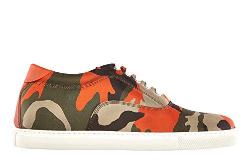 Dsquared2 Herrenschuhe Herren Nylon Sneakers Schuhe camouflage Grün