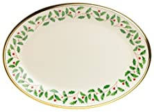 buy Lenox Holiday 13-Inch Gold-Banded Fine China Oval Platter