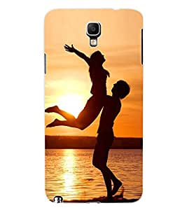 ColourCraft Loving Couple Design Back Case Cover for SAMSUNG GALAXY NOTE 3 NEO DUOS N7502