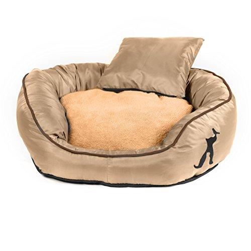 pet-paradise-tierbett-victor-mit-wendekissen-zusatzlichem-kissen-fur-hund-katze-beige-m-75x60x20cm