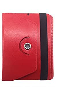 Garmor 360 Degree Rotating Flip cover For HCL Me Sync U3 - 7 inch Tablet (Red)