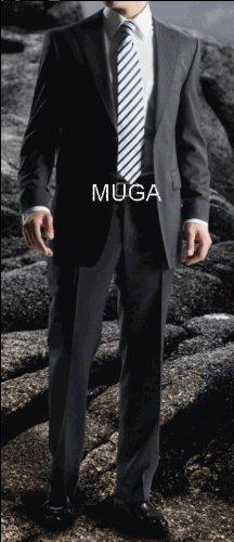 MUGA 2-Button mens Suit + Waistcoat, Anthracite, size 54R (EU 64)