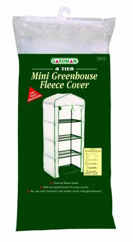 Gardman 4 Tier Mini Greenhouse Fleece Cover (69cm W x 49cm D x 159cm tall)